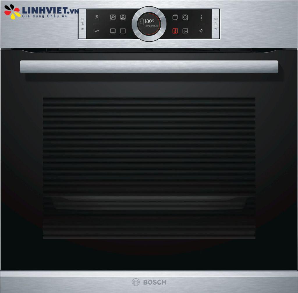 Lò nướng Bosch HBG633BS1J – Serie 8 – 71L – 4D hot air – EcoClean