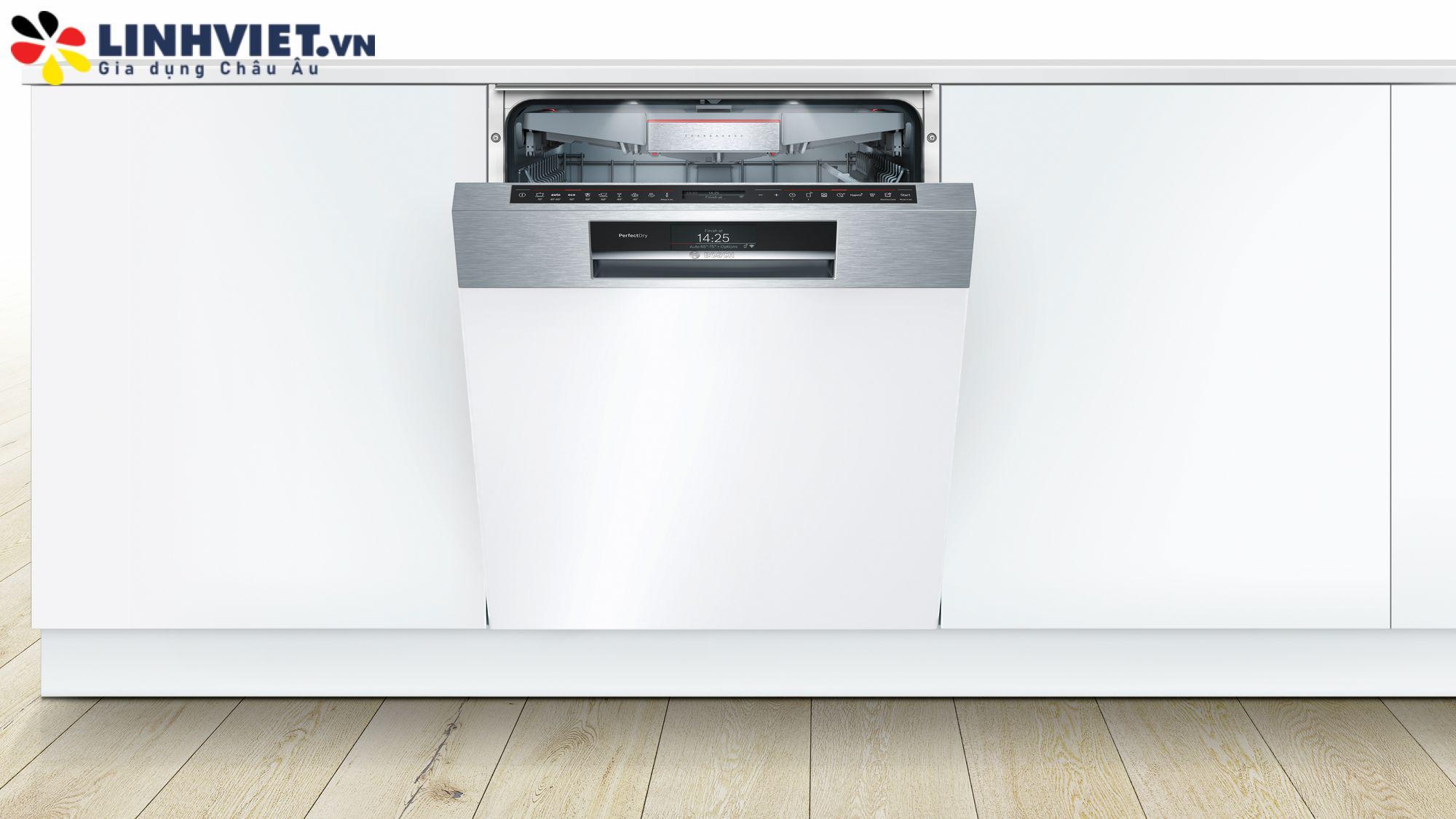 Máy rửa bát bán âm Bosch SMI88TS46E Serie 8 (Zeolith)