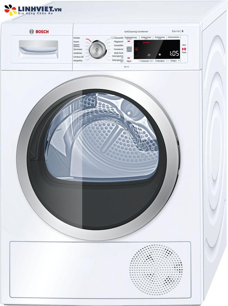Máy sấy quần áo Bosch WTW875W0 – Serie 8