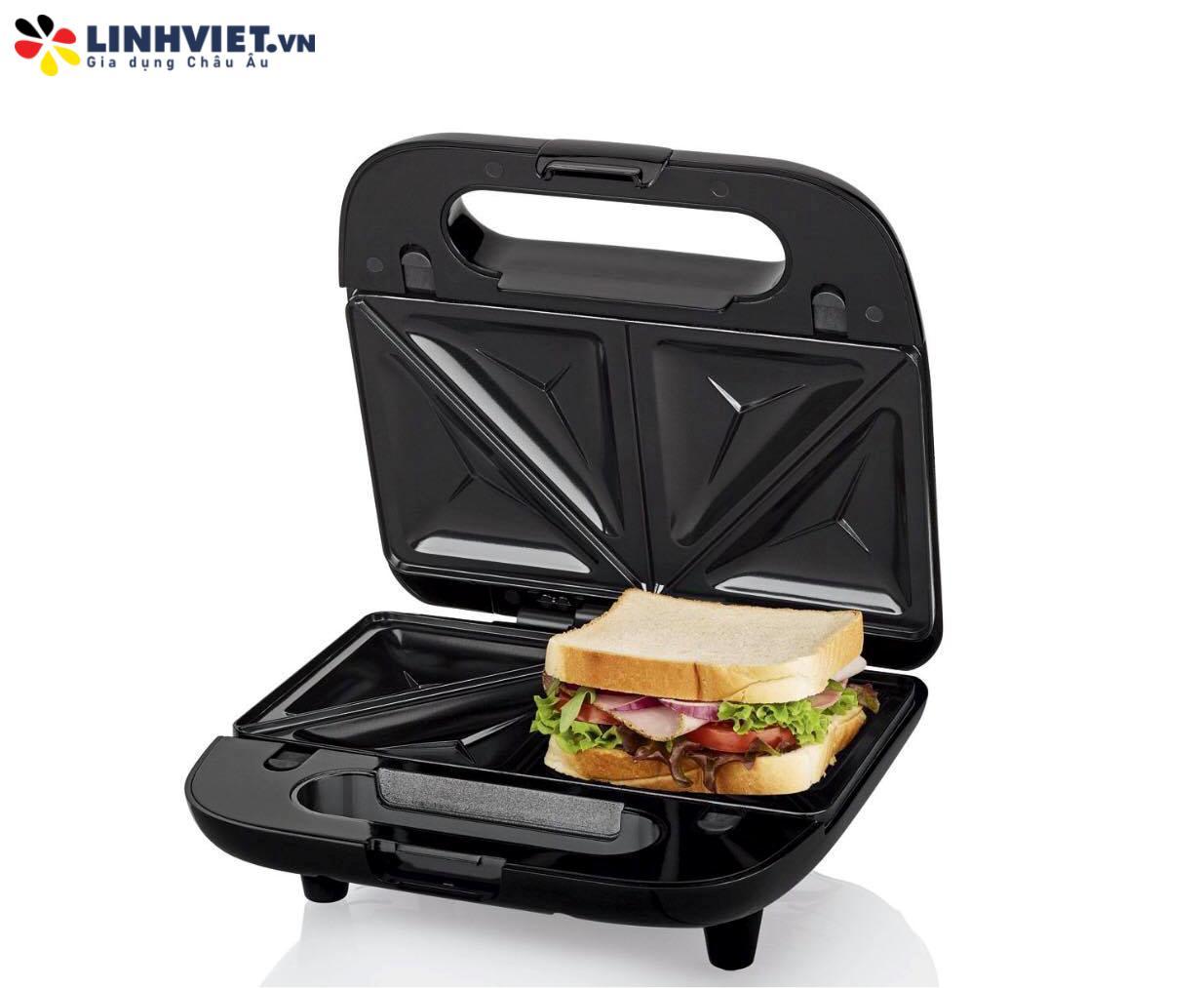 Máy làm bánh sandwich 3in1 SilverCrest SSWM750WC3