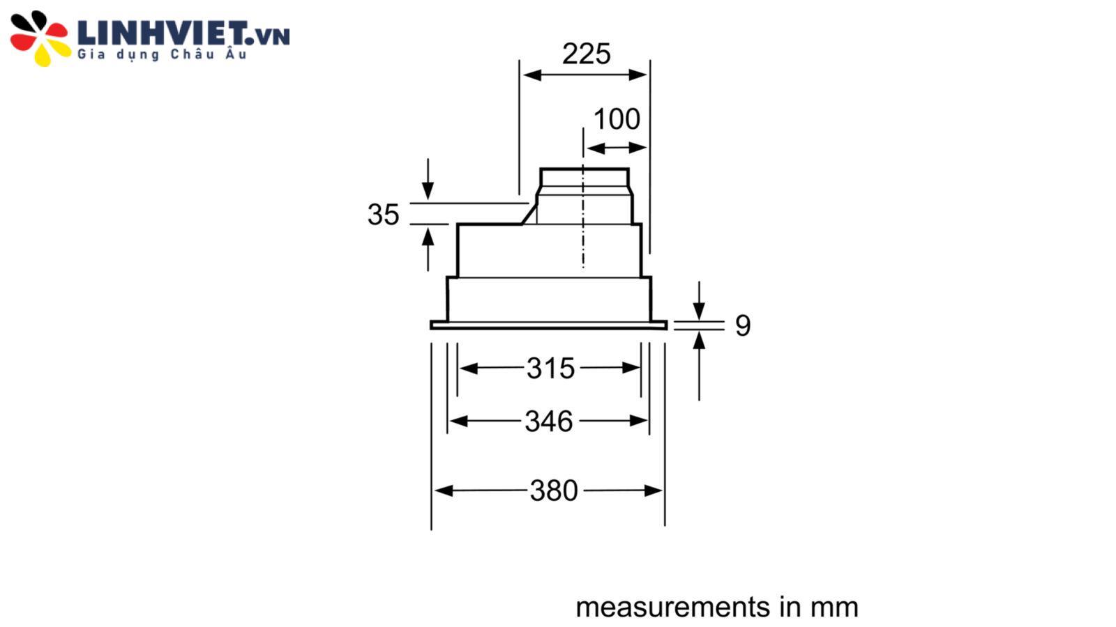 Máy hút mùi âm tủ Bosch HMH.DHL755BL 73cm