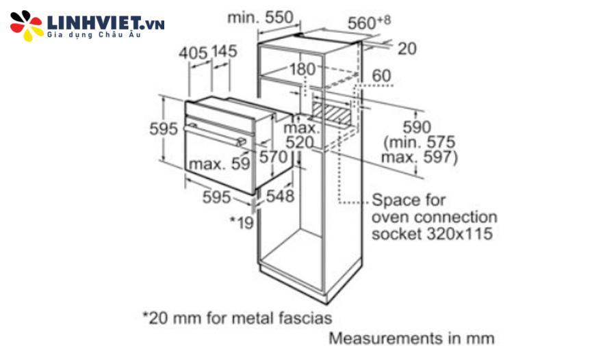 lò nướng Bosch HMH.HBN211E2M 60CM