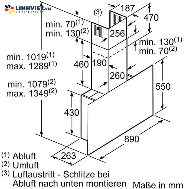 Máy hút mùi Bosch DWF97RV60