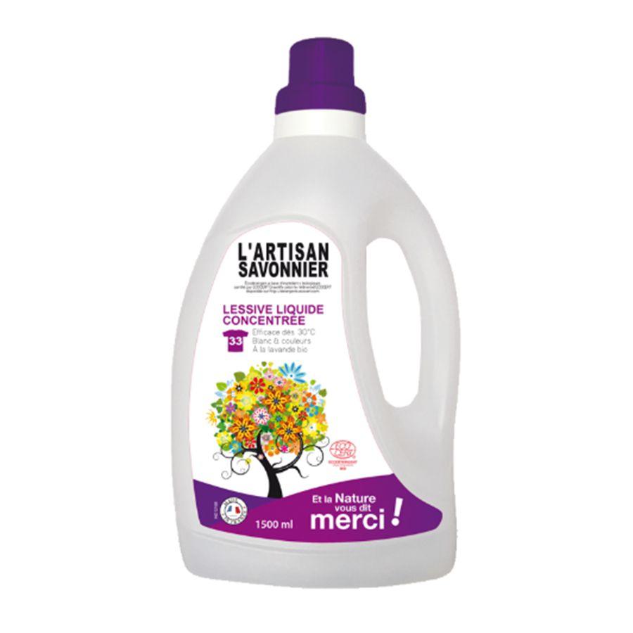Nước giặt đậm đặc oải hương cỏ roi Artisan Savonnier 1.5l