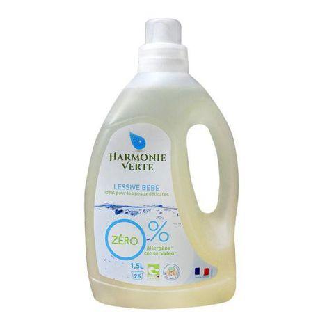 Nước giặt quần áo em bé hữu cơ đậm đặc Harmonie Verte 1,5L