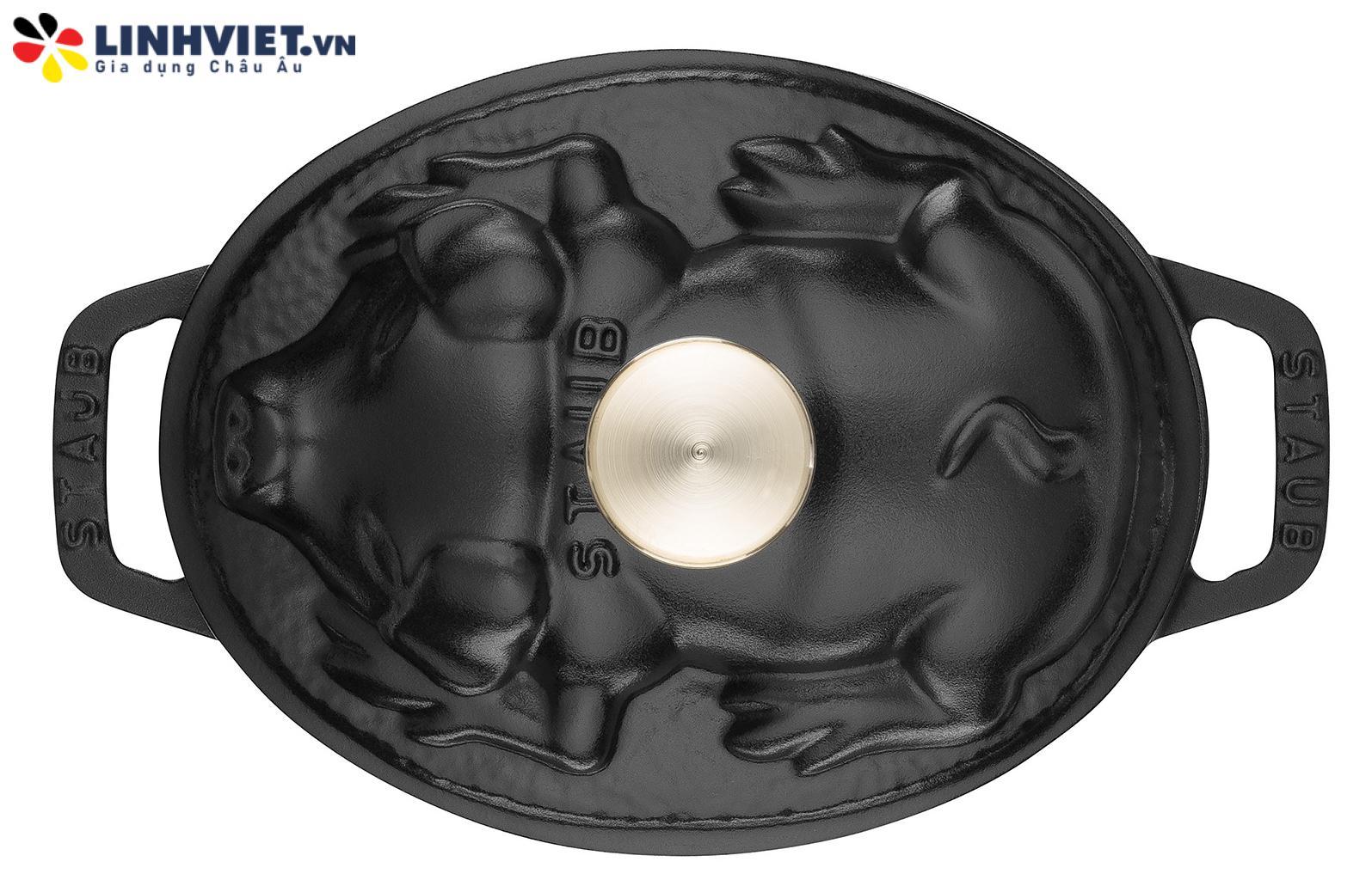 Staub – Nồi Nắp Hình Con Heo Màu Đen – 17cm