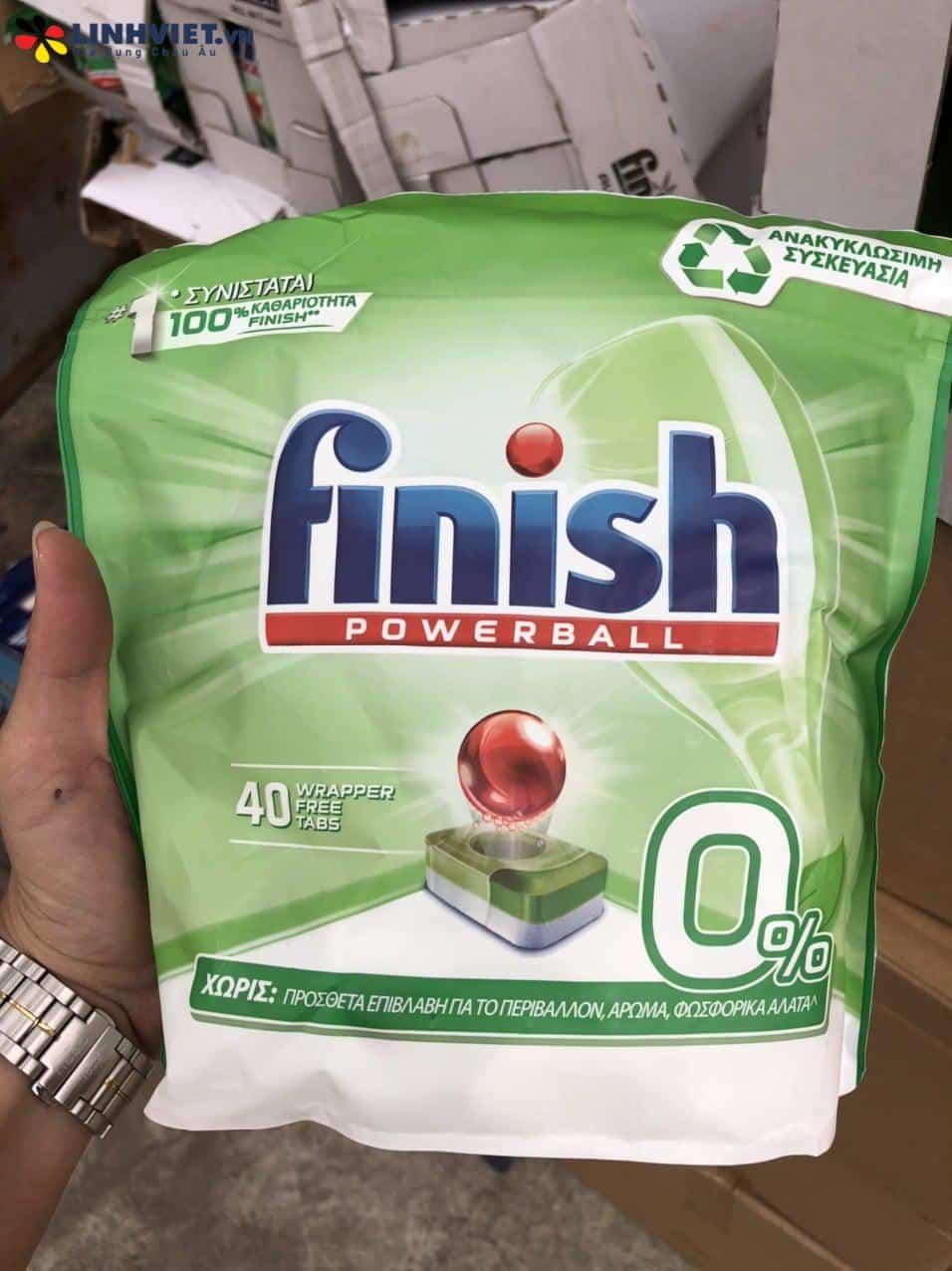 Viên máy rửa chén sinh học Finish