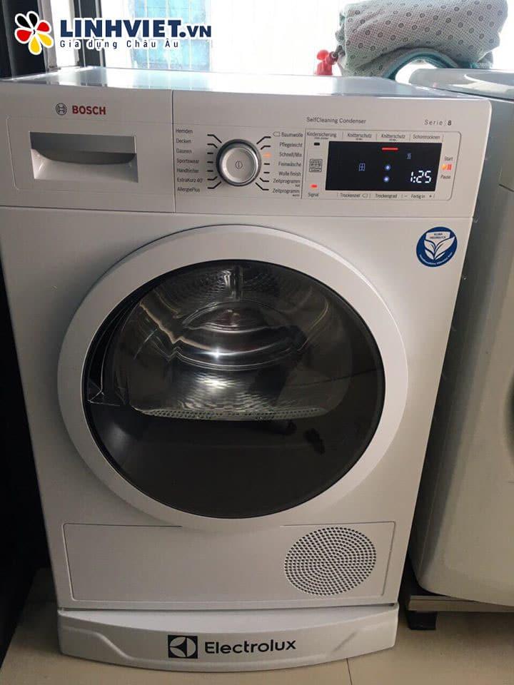 hình ảnh thực tế lắp đặt máy giặt Bosch tại nhà khách hàng