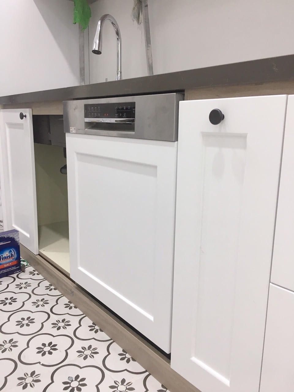 Hình ảnh thực tế khách hàng lắp Combo: Máy rửa bát, Bếp từ Bosch 7