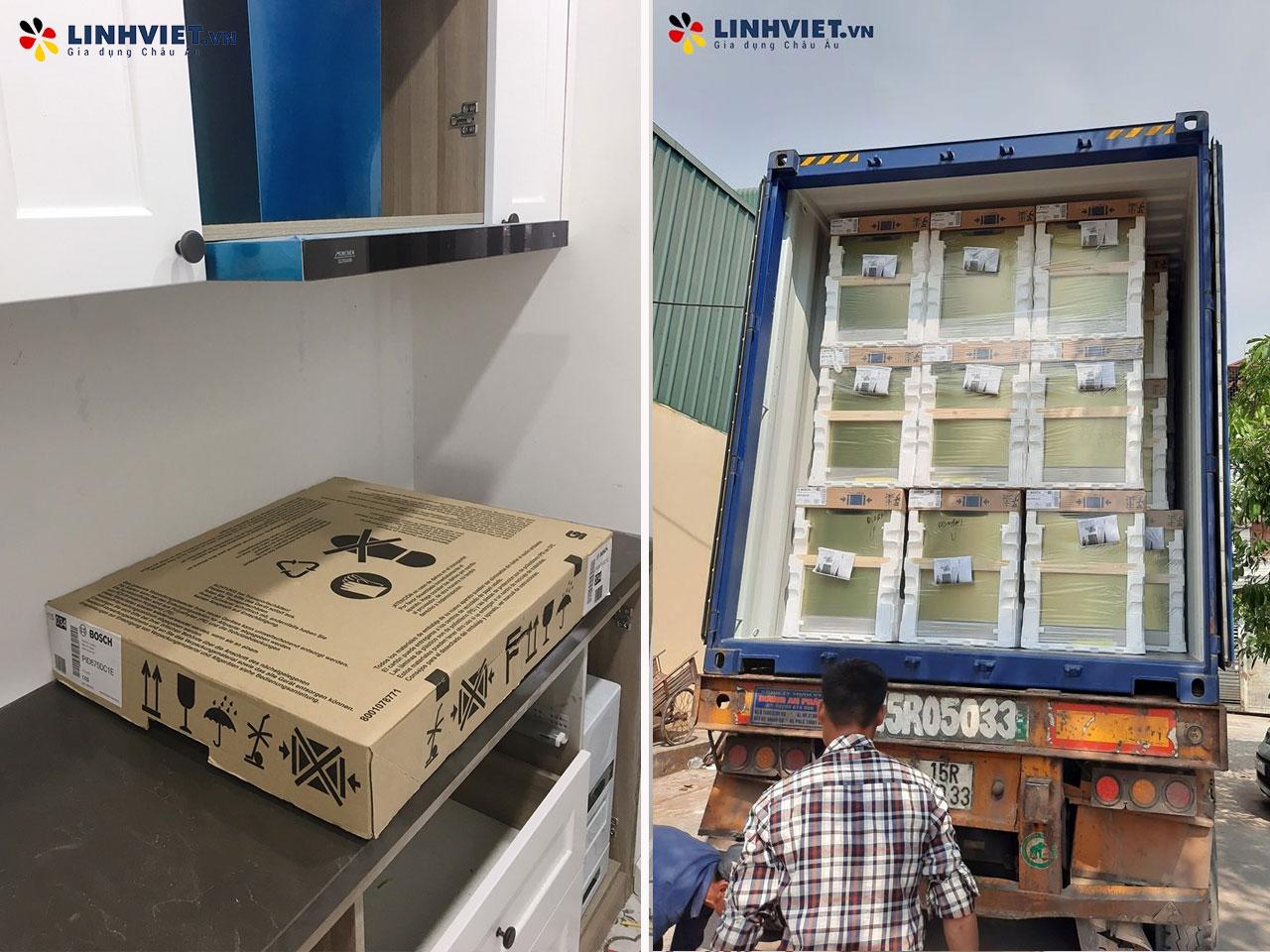 Hình ảnh thực tế khách hàng lắp Combo: Máy rửa bát, Bếp từ Bosch 2