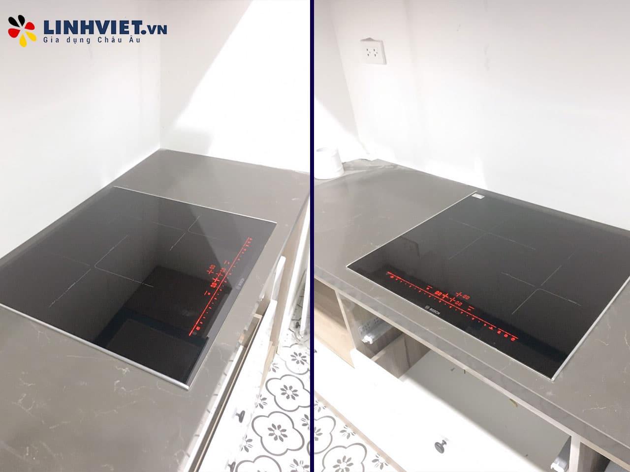 Hình ảnh thực tế khách hàng lắp Combo: Máy rửa bát, Bếp từ Bosch 3
