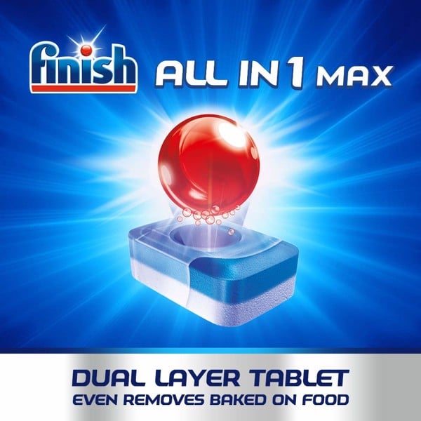 Túi 94 viên rửa chén Finish all in one max lemon 94v
