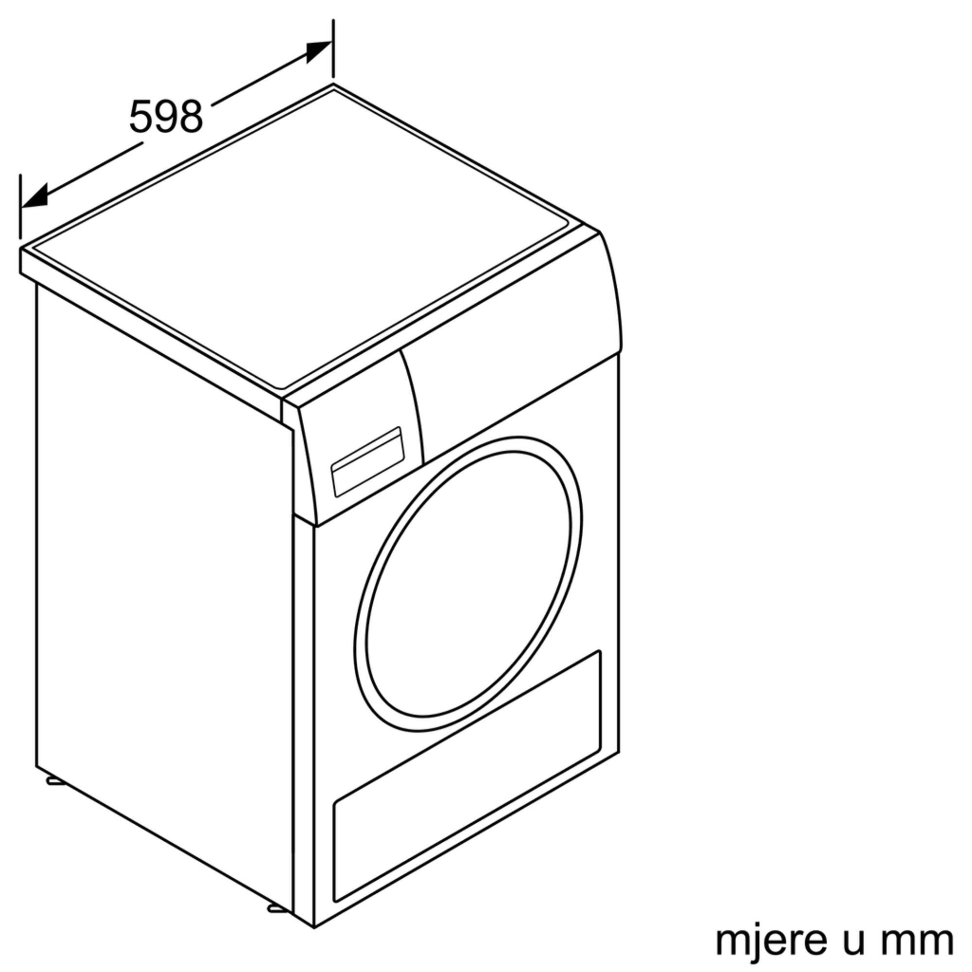 Máy sấy quần áo Bosch Seri 8 WTX87M90BY