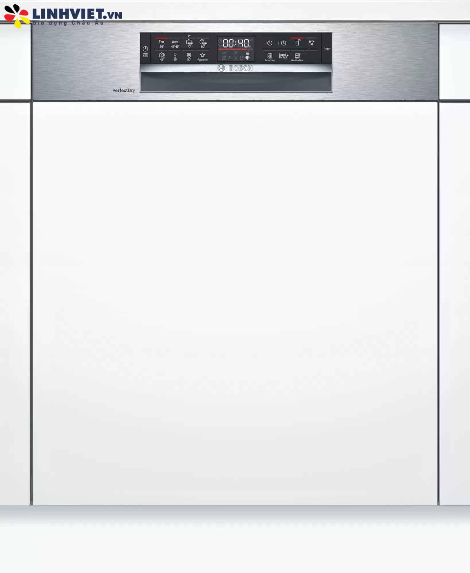 Máy rửa bát bán âm Bosch SMI6ZCS49E Serie 6