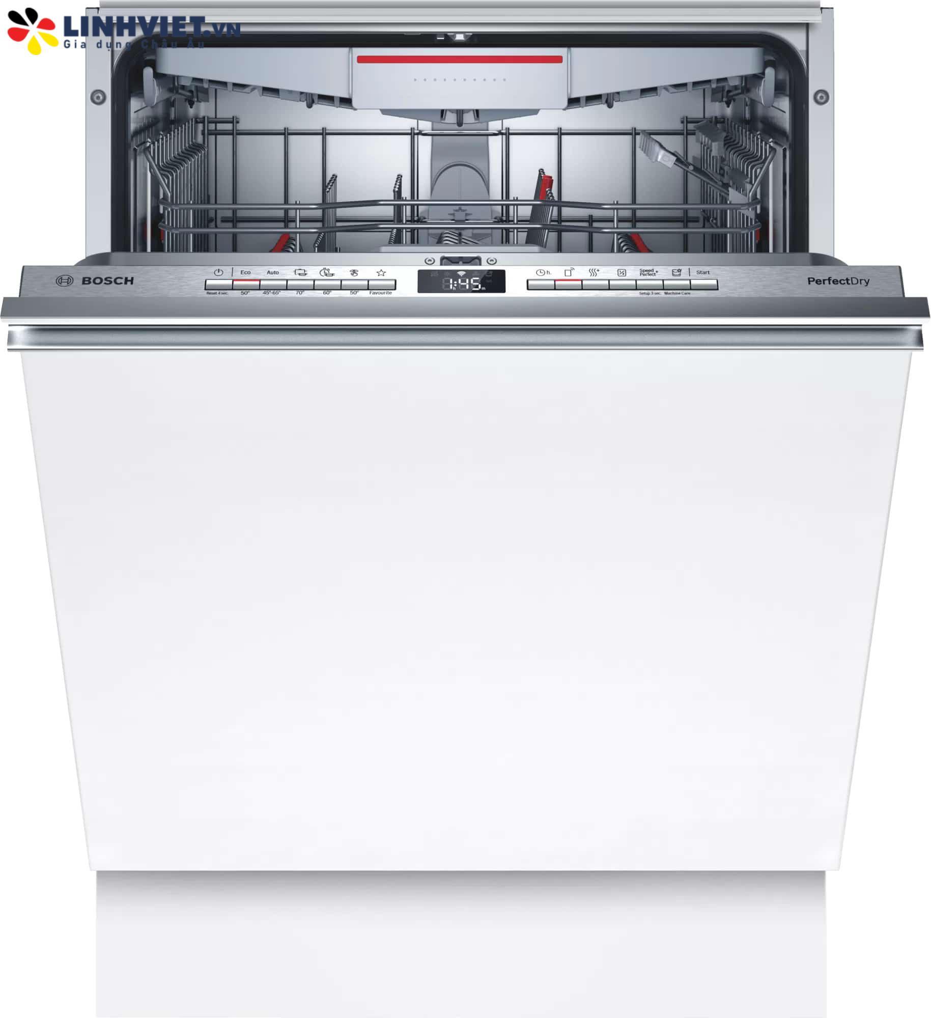 Máy rửa bát Bosch SMV6ZCX07E Serie 6 Phím cơ (2021)