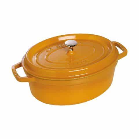 Nồi Oval Staub Màu Vàng – 27cm