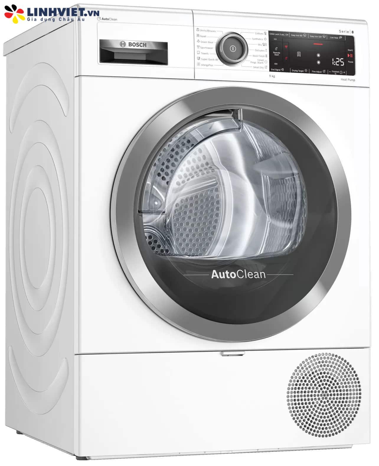 Máy sấy quần áo Bosch WTX87MH0SG-Serie 8-Home Connect