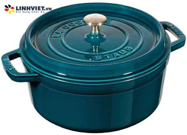 Staub – Nồi tròn màu xanh ngọc – 24cm (11092437-B)